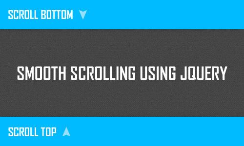 Jquery Smooth Scrolling